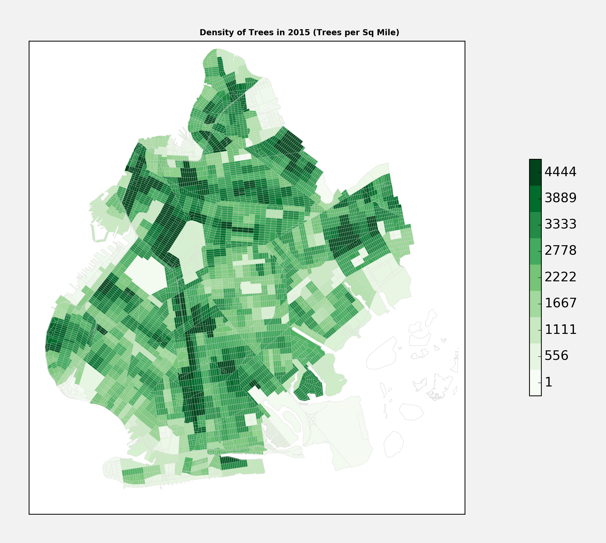 Tree Density Brooklyn 2015