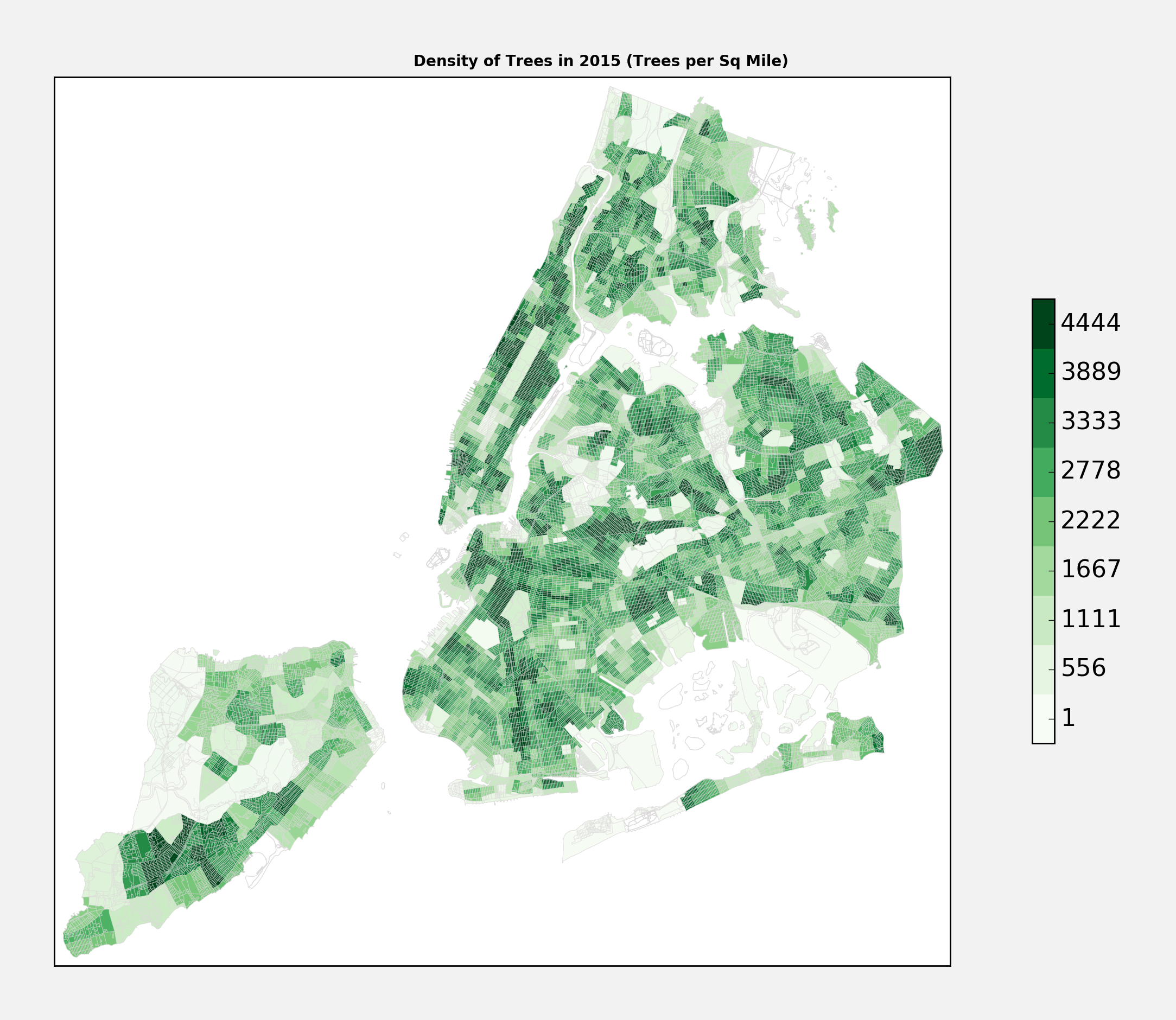 Tree Density NYC 2015